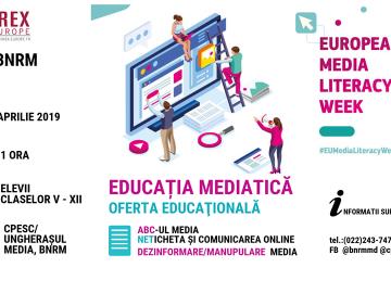 Biblioteca Naţională a Republicii Moldova vă propune o ofertă educaţională – un ciclu de insturiri privind #educatiamedia