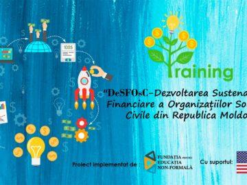 """Participă la proiectul """"Dezvoltarea Sustenabilității Financiare a Organizațiilor Societății Civile din Republica Moldova"""""""