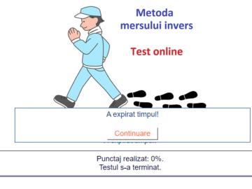 Test online -Metoda Mersului Invers