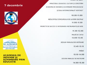 """Conferința Națională """"Platforme educaționale online"""""""