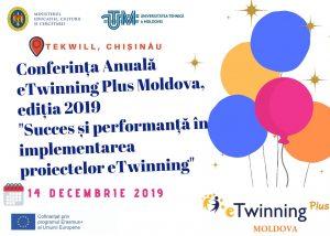"""Invitație de participare la Conferința Anuală eTwinning Plus Moldova, ediția 2019 """"Succes și performanță în implementarea proiectelor eTwinning"""""""