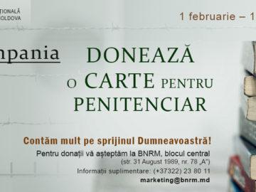 Campania:  DONEAZĂ O CARTE PENTRU PENITENCIAR (1 februarie – 1 martie 2020)