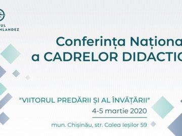 """Conferința Națională a Cadrelor Didactice 2020 """"VIITORUL PREDĂRII ȘI AL ÎNVĂȚĂRII"""""""