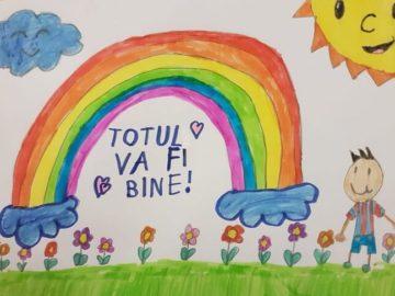 """Proiectul-concurs de solidaritate și desen cu genericul: """"TOTUL VA FI BINE""""."""
