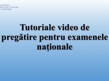 Ministerul Educației, Culturii și Cercetării prezintă tutoriale video de pregătire pentru examenele naționale, sesiunea 2020