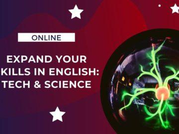 "America House Chișinau te invită la ""Virtual session: Expand your skills in English – Tech & Science"""