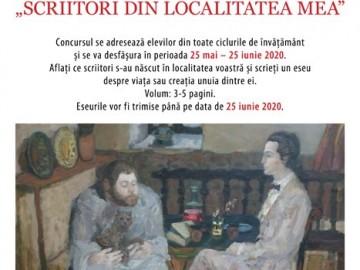 """Participă la Concursul Național de Eseuri """"Scriitorii din localitatea mea"""""""