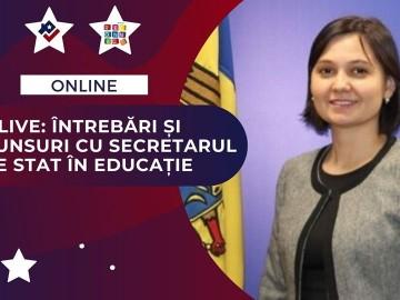 Live: Întrebări și răspunsuri cu Secretarul de stat în educație