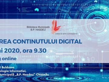 Crearea conținutului digital