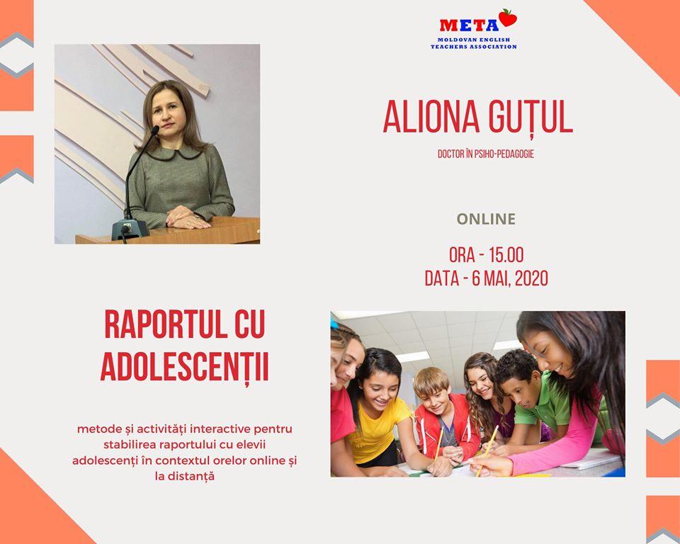 raportul cu adolescenții, eveniment creat de meta pentru profesorii care caută oportunități în educație online din Republica Moldova