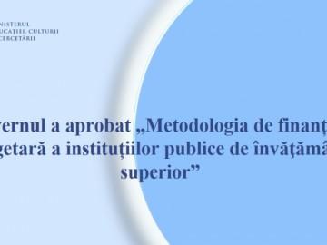 """A fost aprobată """"Metodologia de finanțare bugetară a instituțiilor publice de învăţământ superior"""""""