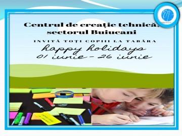 """Centrul de creație tehnică, sectorul Buiucani, organizează tabăra de creație on-line """"Happy holidays"""""""