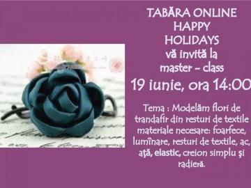 """Master-class """"Modelarea florii de trandafir din resturi de textile"""""""