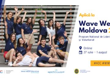 Fii schimbarea în comunitatea ta! Aplică la Wave Week Moldova 2020!