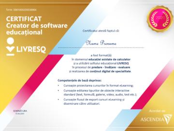 """Aplică pentru diploma de """"Creator de software educațional"""""""