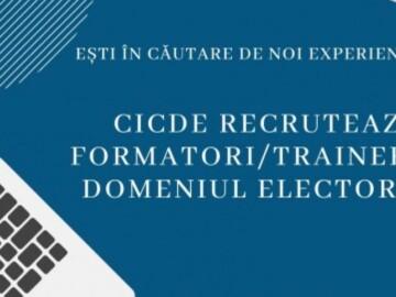 CICDE recrutează persoane care își doresc să devină formatori în domeniul electoral