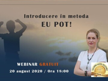 """Webinar GRATUIT: Introducere în metoda """"EU POT !"""""""