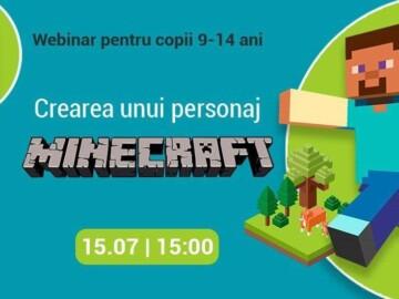 """Webinar gratuit """"Crearea unui personaj Minecraft"""""""