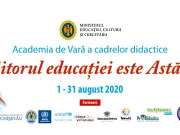 """Academia de Vară a cadrelor didactice """"Viitorul educației este Astăzi"""""""