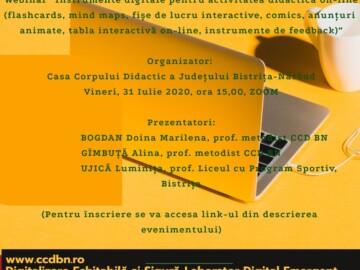 Instrumente digitale pentru activitatea didactică on-line
