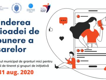 Centrul Municipal de Tineret Chișinău a extins termenul de depunere a dosarelor pentru Programul municipal de granturi mici 2020