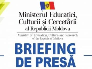 """Live: Briefing de presă susținut de ministrul Educației, Culturii și Cercetării, Igor Șarov, referitor la aprobarea """"Reglementărilor speciale privind organizarea anului de studii 2020-2021, în contextul epidemiologic de COVID-19, pentru instituțiile de învățământ"""""""