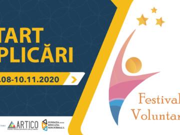 Festivalul Voluntarilor 2020 a dat start înscrierilor pentru cele 4 secțiuni
