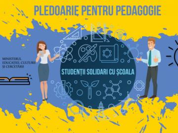 """Ministerul Educației, Culturii și Cercetării demarează acțiunea """"Studenții solidari cu școala"""""""