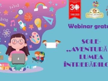 Webinar SOLE gratuit- Aventură în lumea întrebărilor
