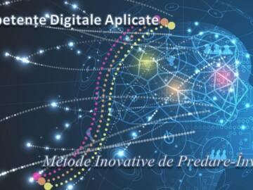 """Formare în cadrul proiectului """"Competențe Digitale Aplicate în metode inovative de predare-învățare"""""""