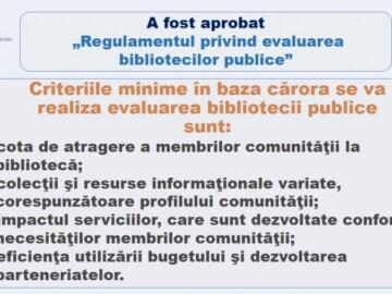 """A fost aprobat """"Regulamentul privind evaluarea bibliotecilor publice"""""""