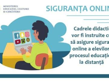 Cadrele didactice vor fi instruite cum să asigure siguranța online a elevilor în procesul educațional la distanță