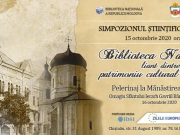 """Simpozion științific național """"Biblioteca Națională – liant dintre patrimoniul cultural și educație"""""""