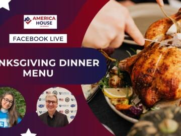 Facebook Live: Thanksgiving Dinner Menu