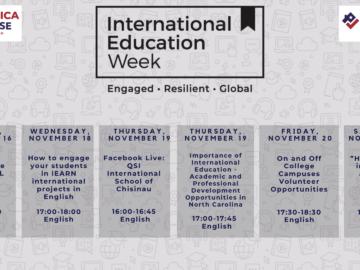 Săptămâna Internațională a Educației- program oferit de America House Chișinău