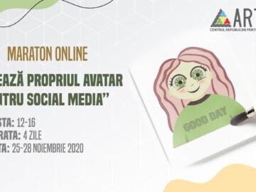 """Maraton online """"Creează propriul avatar pentru Social Media"""""""