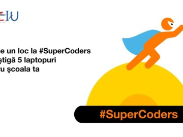 """Proiectul """"SuperCoders"""" revine! Înscrie școala ta în competiție și câștigă cinci laptopuri"""