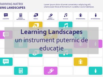 Learning Landscapes: un instrument puternic de educație
