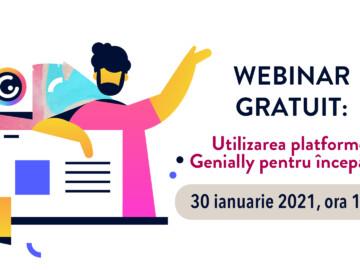 WEBINAR GRATUIT: Utilizarea platformei Genially pentru începători