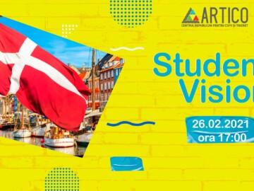 """Clubul Voluntarilor ARTICO te invită la o întâlnire cu un student actual din Danemarca, în cadrul evenimentului """"Student Vision"""""""