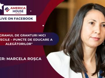 """Programul de granturi mici """"Bibliotecile – puncte de educare a alegătorilor"""" cu Marcela Roșca"""