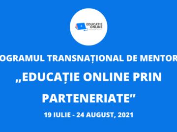 """Devino mentor în cadrul Programului transnațional """"Educație Online prin Parteneriate"""""""