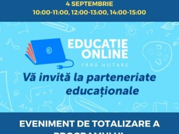 """Eveniment de totalizare a Programului transnațional de mentorat """"Educație online prin parteneriate"""""""