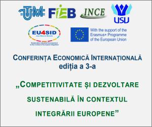 """Conferința Economică Internațională """"Competitivitate și dezvoltare sustenabilă în contextul integrării europene"""""""